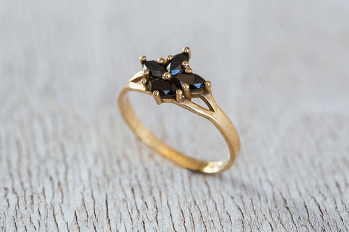 Black Iris Ring-Diamond Ring, Engagement Ring-TOR Pure Jewelry