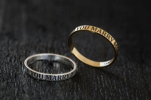 Will You Marry Me Ring-Gold Ring, Engagement Ring-TOR Pure Jewelry