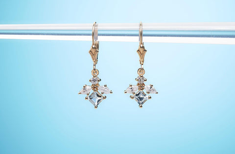 Gypsy Patent Earrings With Diamonds