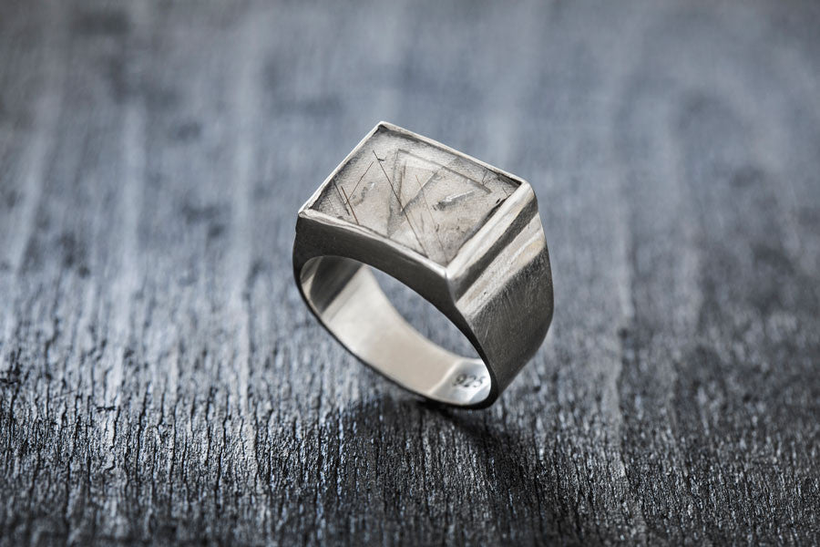 TOR Silver Signature Ring-signet ring-TOR Pure Jewelry