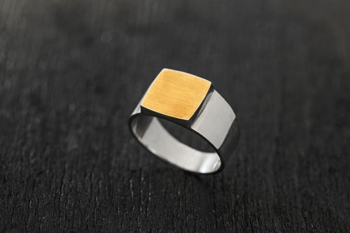 Integrated Signet Ring-signet ring-TOR Pure Jewelry