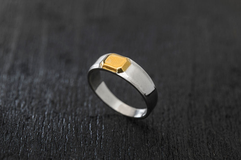 Gold Gemstone Ring-Men's Rings-TOR Pure Jewelry