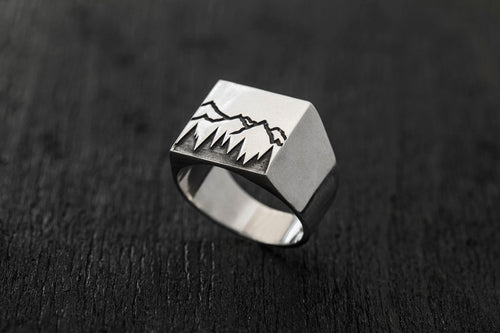 Forest Signature Ring-signet ring-TOR Pure Jewelry