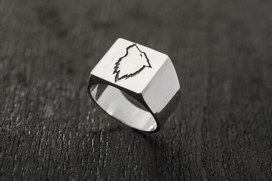 Wolf Signature Ring-signet ring-TOR Pure Jewelry