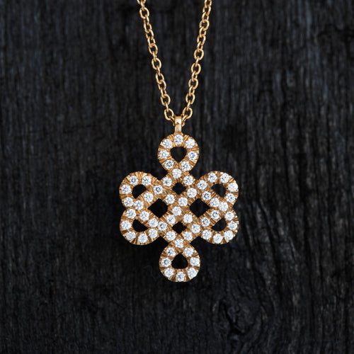 The Eternal Knot Diamond Necklace-Necklace-TOR Pure Jewelry
