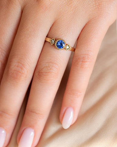 NBS 1920's Sapphire and Diamond Ring