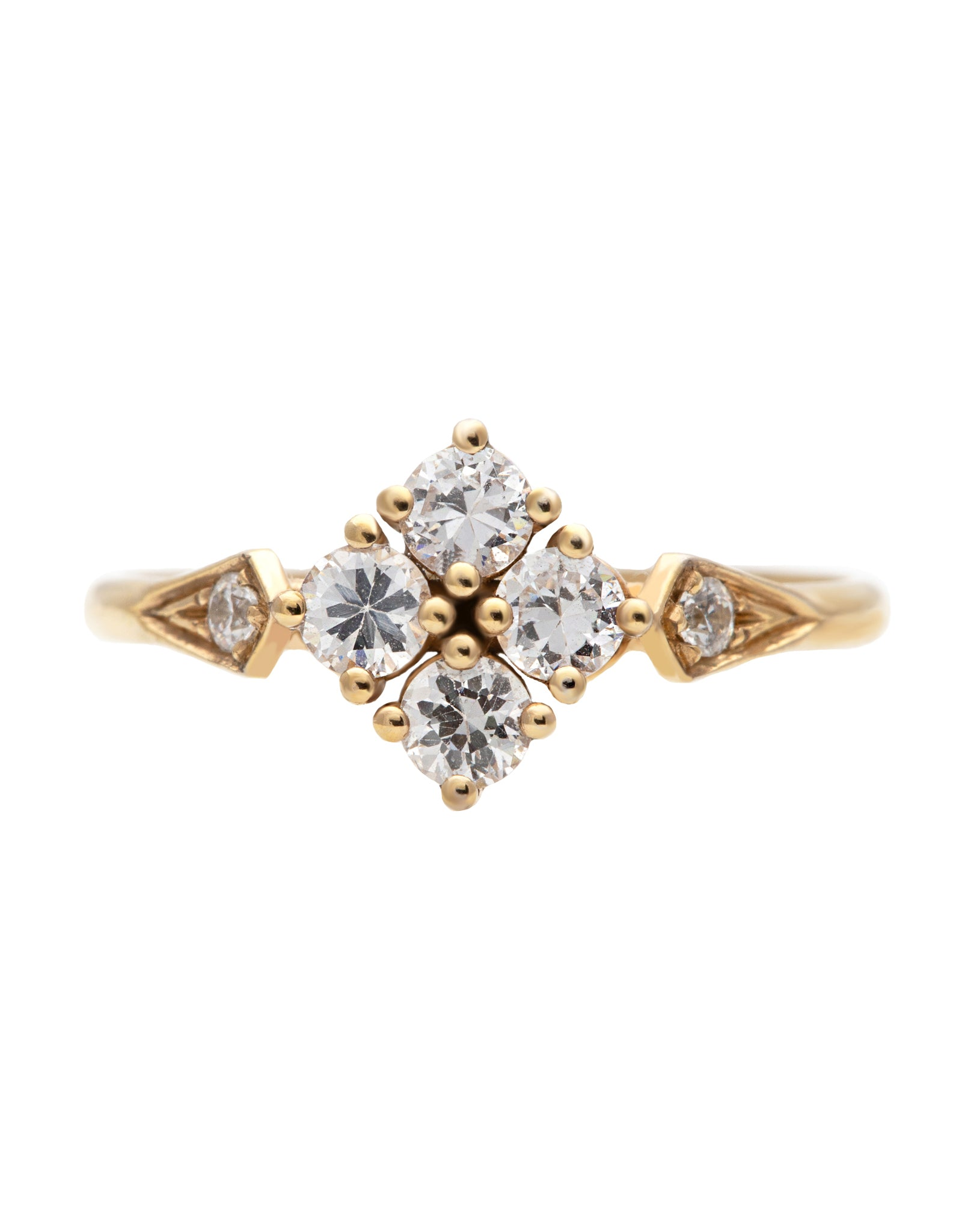 Reut B Extra Kite Shaped Engagement Ring with Lab Created Diamonds