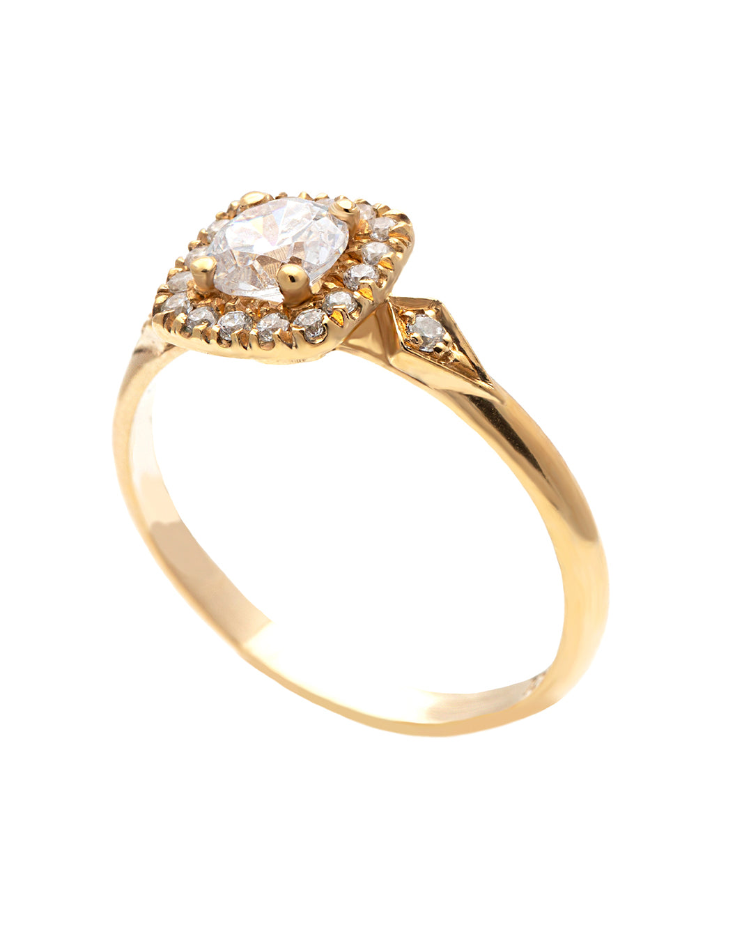 Koor Engagement Ring with Lab Created Diamonds