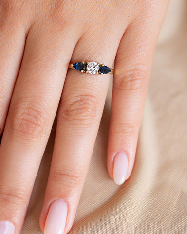 Clover Diamond Ring with Lab Created Diamonds