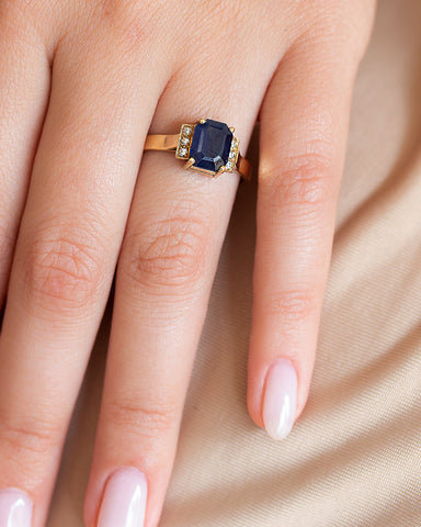 Secret Poison Diamond and Sapphire Ring