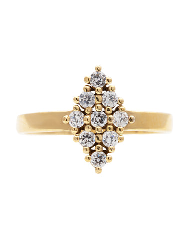 Horizontal Diamond Ring