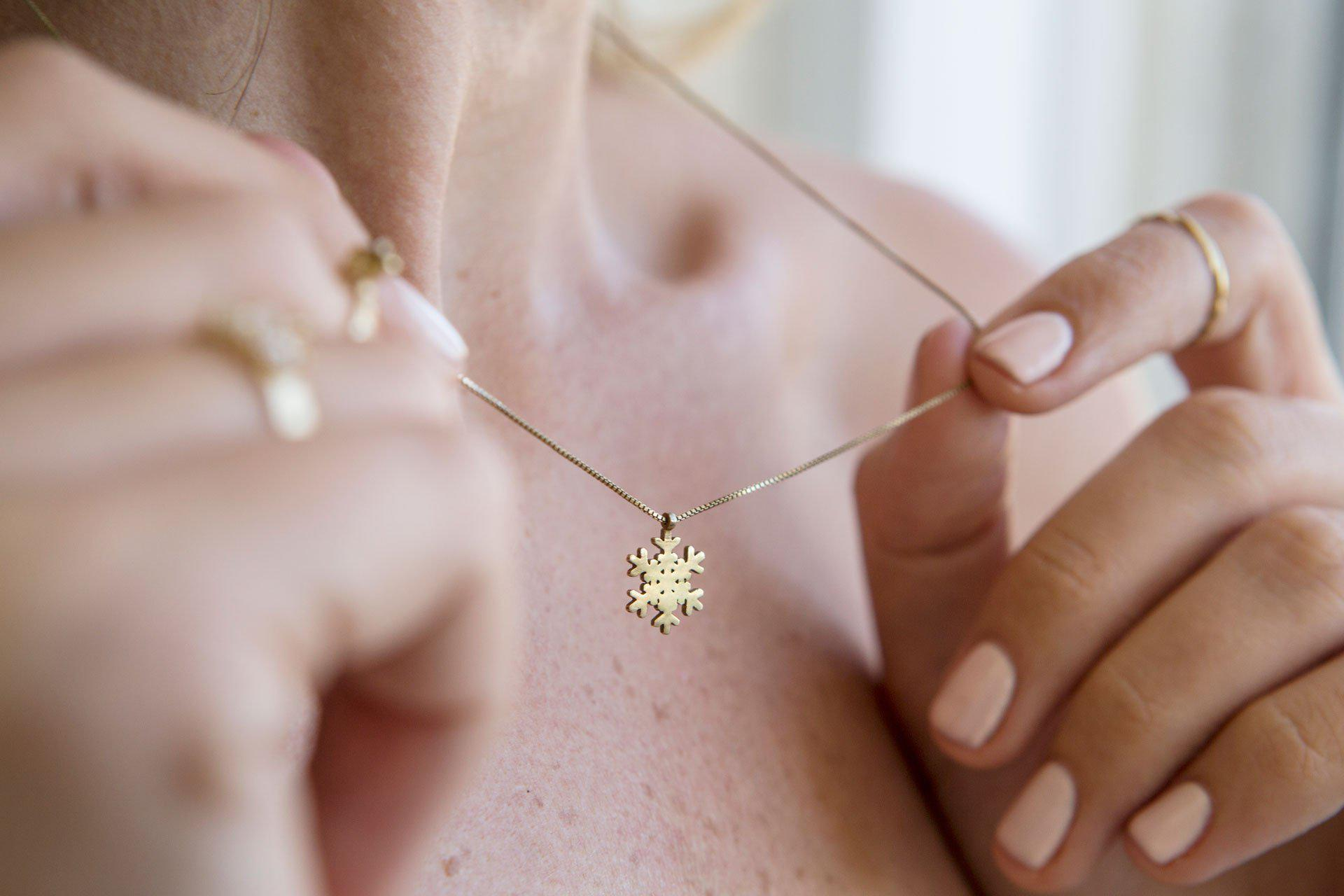 Snowflake Necklace-Necklace-TOR Pure Jewelry