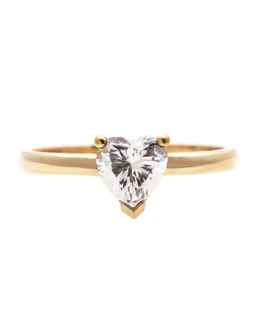 White Heart Diamond Ring