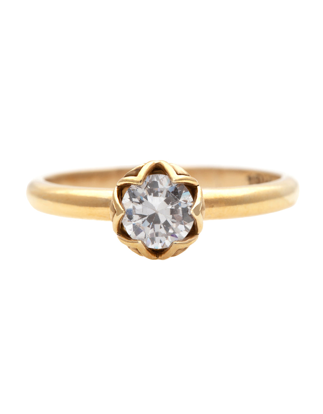 Michal Diamond Ring with Lab Created Diamonds