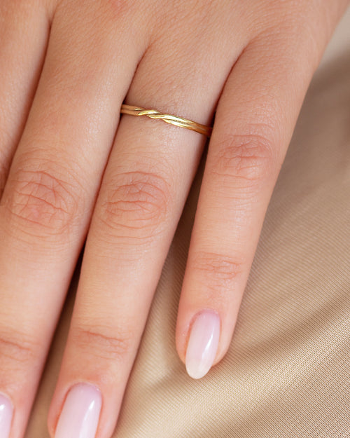 Double Twist Wedding Band