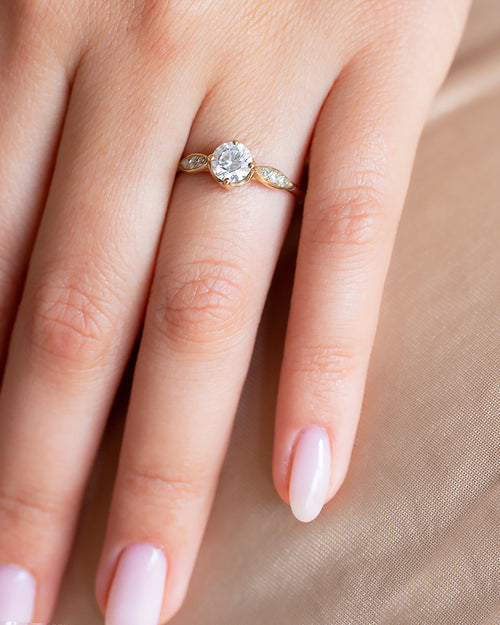 Moran Solitaire Engagement Ring with Lab Created Diamonds