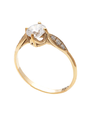 Pear Angel Diamond Ring