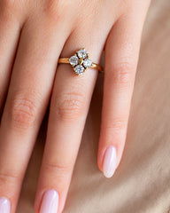 Star Dust Kite Shaped Diamond Ring