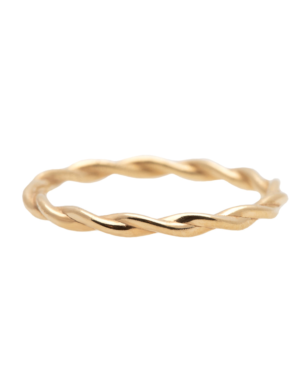 Tiny Braid Gold Ring