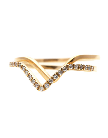 Double Delta Kite Shape Diamond ring