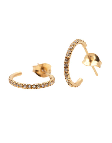 Triple Hoop Gold Earrings