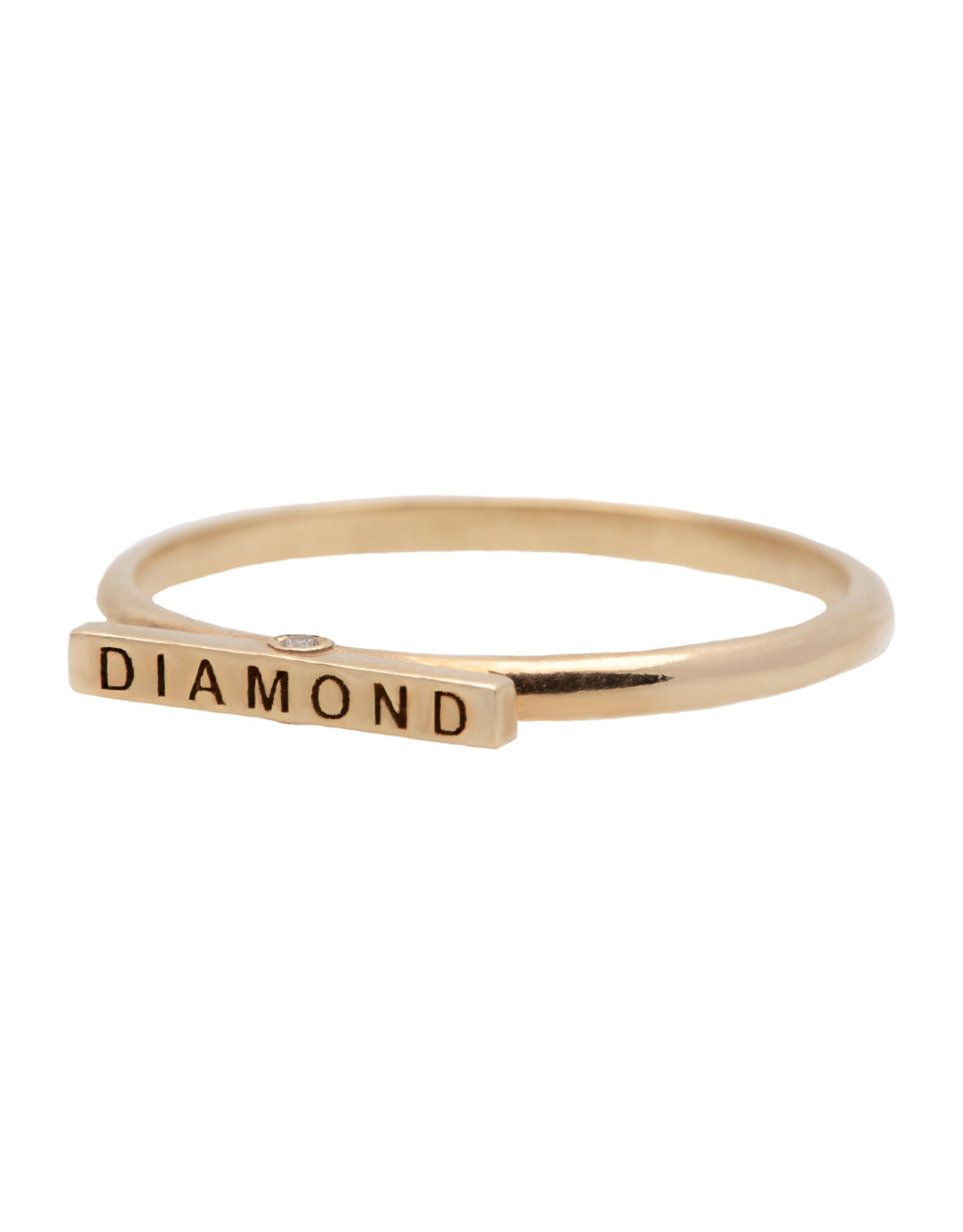 No Diamond Diamond Ring