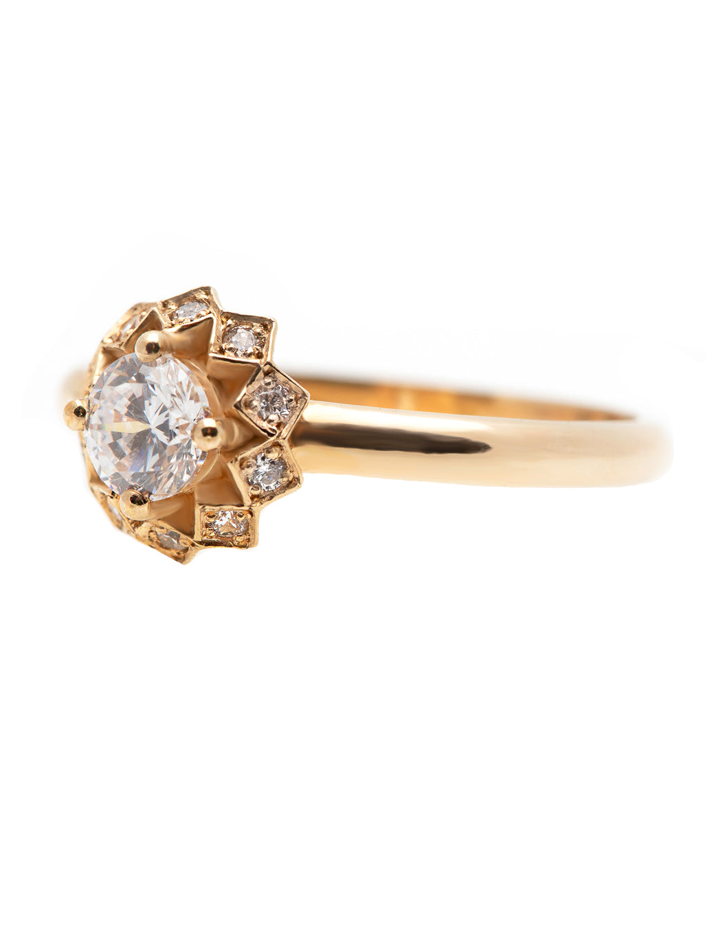 Flower Diamond Ring