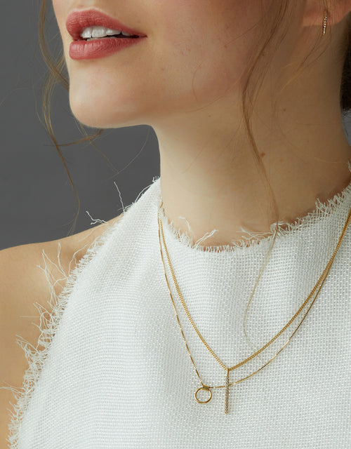 One Line Diamond Necklace