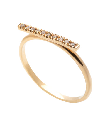 Hoop Diamond Ring