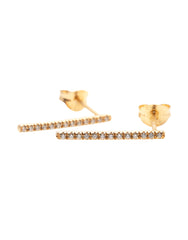 Long Line Diamond Earrings
