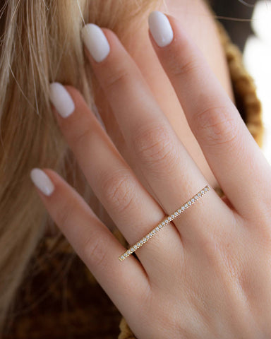 Mountain Diamond Rings Set