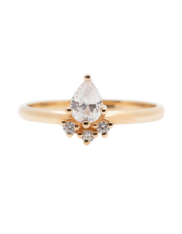 Enchanting Curved Diamond Ring II