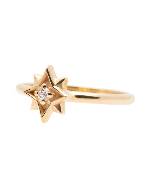 Small Northern Star Diamond Ring