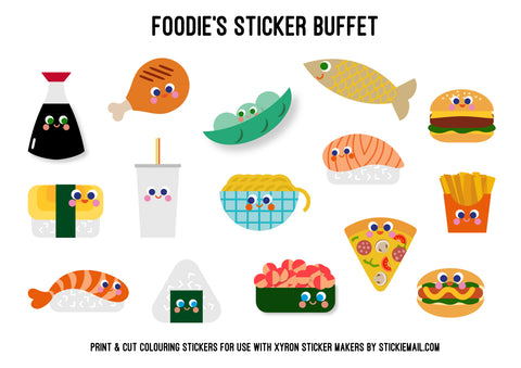 Stickiemail's Foodie Stickers Free Download