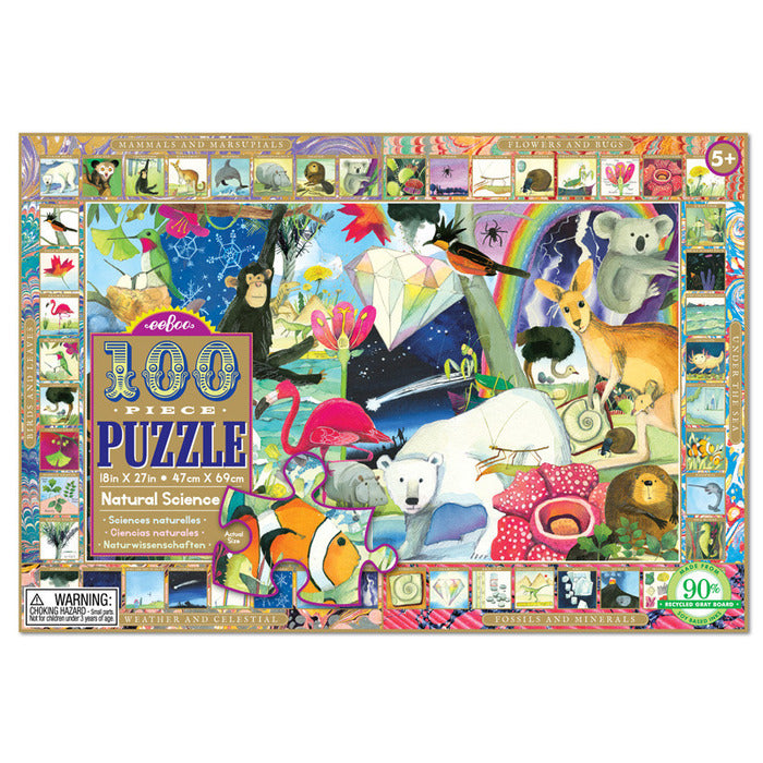 Natural Science 100pc Puzzle, by eeBoo