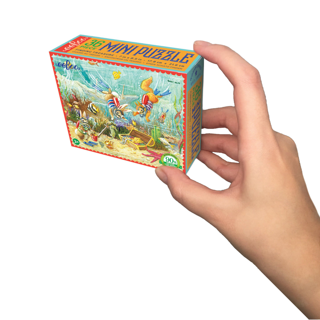 Mini 36pc Puzzle - Finding Treasure by eeBoo