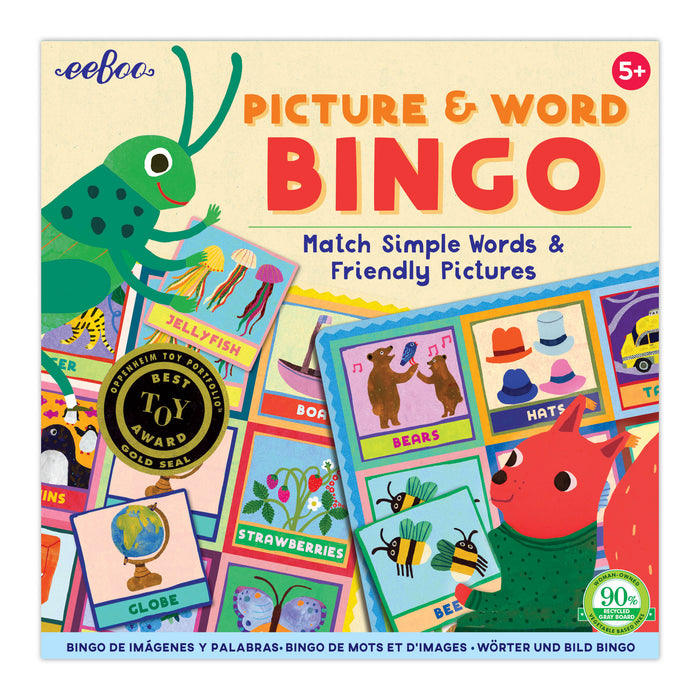 Picture & Word Bingo, by eeBoo