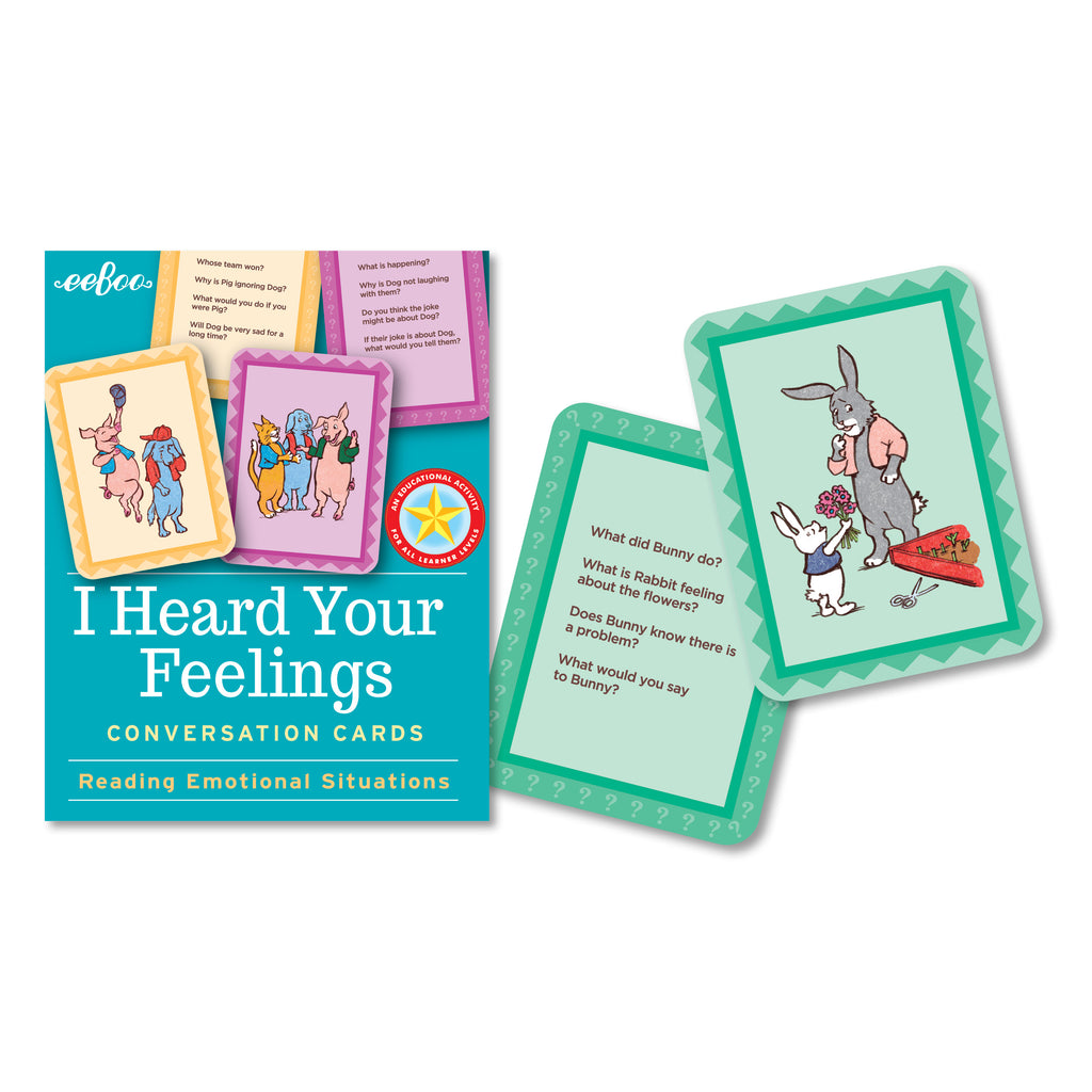 I Heard Your Feelings Flash Cards, by eeBoo
