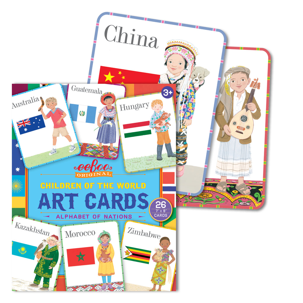 Children of the World Art Cards, by eeBoo