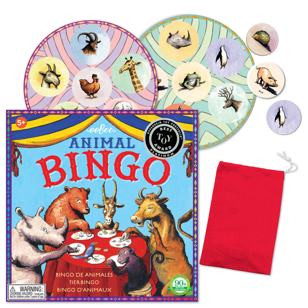 Animal Bingo Square, by eeBoo