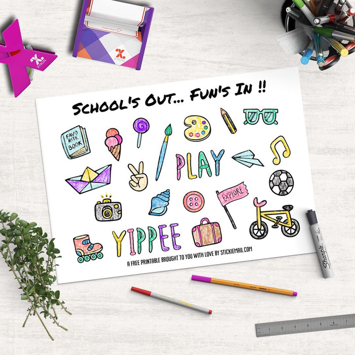 School's Out, Fun's In! (2017) - Colouring Printable