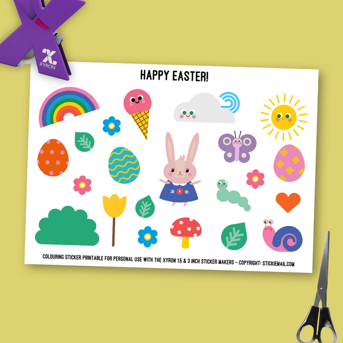 Happy Easter! (2017) - Colouring Printable