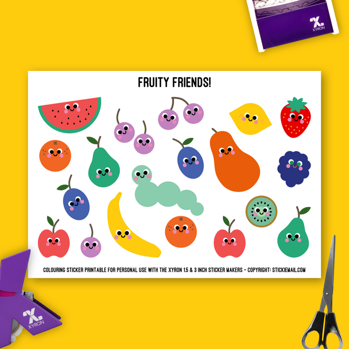 Fruity Friends (2017) - Colouring Printable