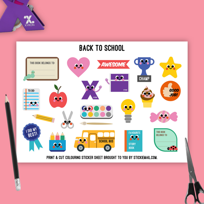 Back To School (2017) - Colouring Printable