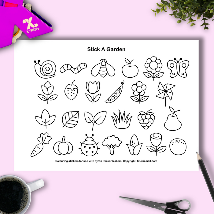 Stick A Garden (2018) - Colouring Printable
