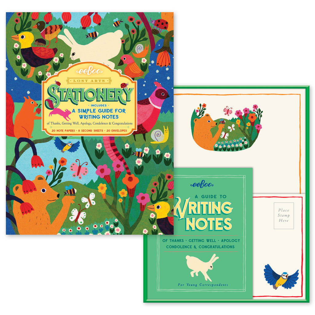 In The Meadow Stationery Set with Letter-Writing Guide, by eeBoo