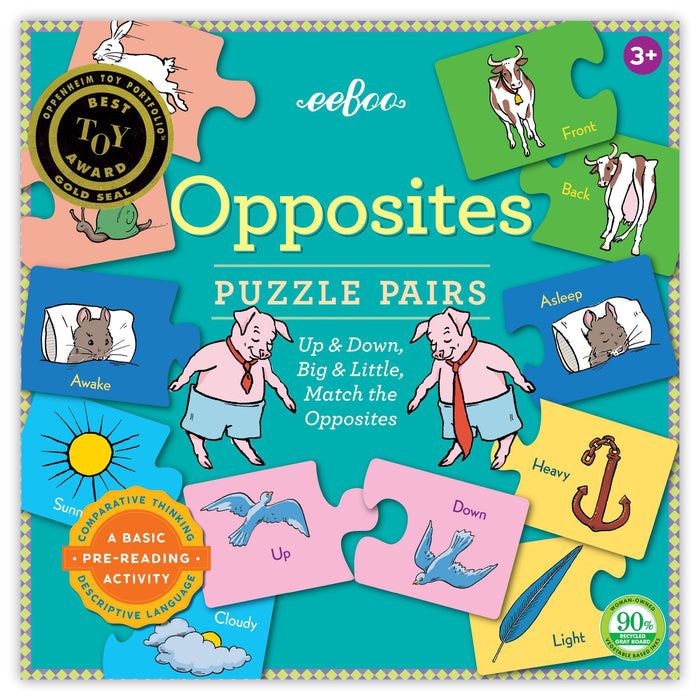 Opposites Puzzle Pairs (new!), by eeBoo