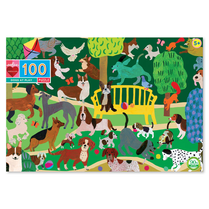 Dogs At Play 100pc Puzzle, by eeBoo