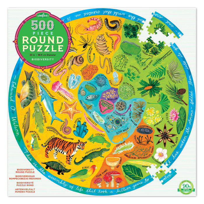 Biodiversity 500pc Puzzle, by eeBoo
