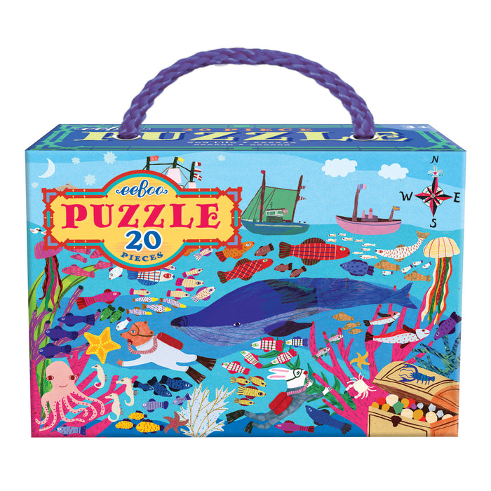 Sea Life 20pc Puzzle, by eeBoo